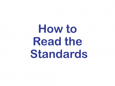 How to Read the Standards